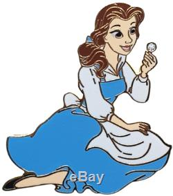 New LE 200 Disney PinAcme Hot Art Beauty and the Beast Belle Blue Dress Flower