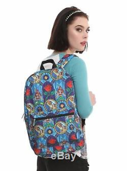 New Loungefly Disney Princess Belle Beauty And The Beast Stained Glass Backpack