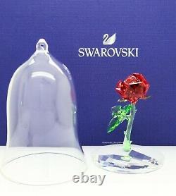 New SWAROVSKI Disney Beauty & the Beast Enchanted Rose Figurine Display 5230478