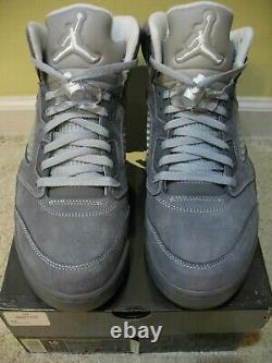 Nike Air Jordan 5 V Retro Shoes 2011 Wolf Grey 3M White Cool 11 Red Suede Men 10
