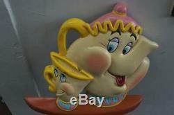 Original 1991 Walt Disney Beauty & The Beast Mrs. Potts & Chip Store Display 2d