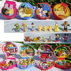 Polly Pocket DISNEY 100% Beauty and the Beast, Lion King Mickey Mouse Notre Dame