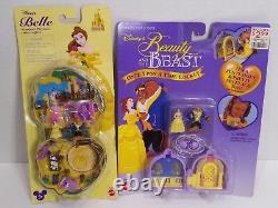 Polly Pocket Disney Beauty & the Beast Compact Playset+Locket Belle 1995 RARE