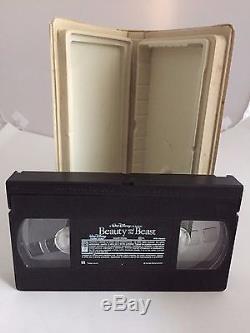 RARE! Beauty and The Beast 1992 VHS Walt Disney Classic Black Diamond