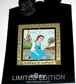 RARE LE 100 Disney Auction Pin Beauty Beast Belle Bride Mirror Original Dress