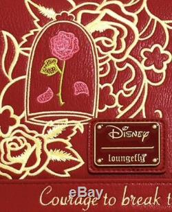 RARE! NEW WITH TAGS Loungefly Disney Beauty Beast Rose Mini Backpack