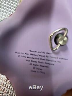 RARE Walt Disney Beauty And The Beast Musical Jewelry Box