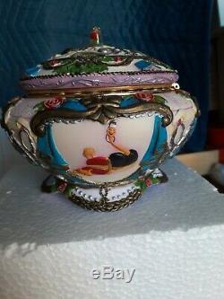 RARE Walt Disney Beauty And The Beast Musical Jewelry Box 1991 New