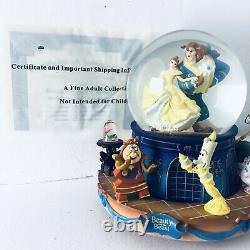 Rare Bradford Exchange Disney Beauty And The Beast Musical Glitter Globe 2017