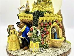 Rare Disney Beauty and the Beast Musical Snow Globe Castle
