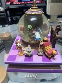 Rare Disney Snow-globe with Blower Beauty & The Beast There's Something There