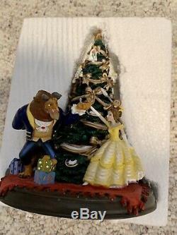 Rare Vintage Disney Beauty And The Beast Christmas Tree Statue Figurine