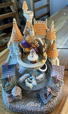 Rare Vintage Disney Beauty and the Beast Castle Snow Globe