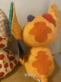 Stitch Crashes Disney Beauty & The Beast Lady And The Lion King Plush Bundle