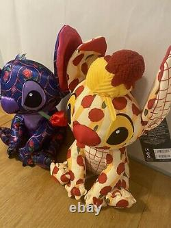 Stitch Crashes Disney Beauty & The Beast, Lady And The Tramp Plushes Bundle