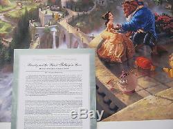 Thomas Kinkade Beauty and The Beast Signed & Numbered Disney Lithograph