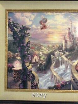 Thomas Kinkade Disney Dreams V Beauty And The Beast Falling In Love 18 X 27 S/N