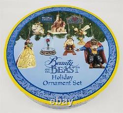 ThriftCHI Walt Disney Showcase Beauty & Beast Holiday Ornament Set Jim Shore