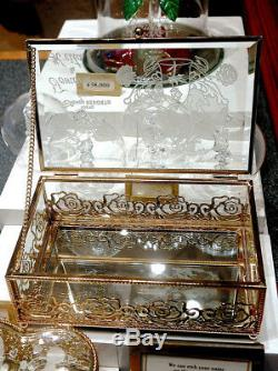 Tokyo Disney Resort Beauty and the Beast Bell Glass Jewelry box Accessory case