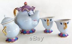 Tokyo Disney Resort Limited Beauty and the Beast Mrs. Potts and Chip Tea Set JPN