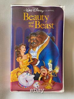 ULTRA RARE Beauty And The Beast 1325 VHS Tape 1992 Disney Black Diamond Edition