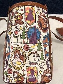 USED Dooney and Bourke Disney Beauty and the Beast Large Tote with Reg. Card