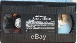 VHS TAPE VERY RARE COPY Disney's Beauty and the Beast 1992 Black Diamond