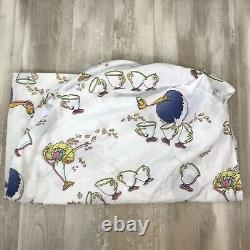 Vintage 90's Disney Beauty and the Beast Full Size Sheet Comforter Set Complete