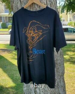 Vintage 90s Beauty and the Beast Disney Movie Shirt Adult Size XL