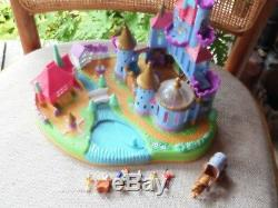 Vintage Disney Polly Pocket Beauty and The Beast Castle Complete All Figures