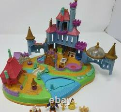 Vintage Disney Polly Pocket Beauty & the Beast Magical Castle and compact