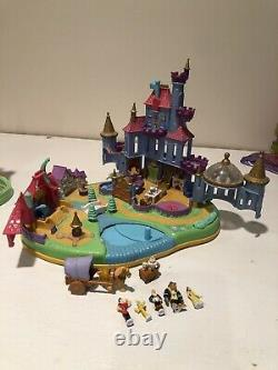Vintage Disney Polly Pocket Beauty & the Beast Magical Magnetic Castle COMPLETE