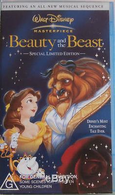 WALT DISNEY MASTERPIECE'BEAUTY AND THE BEAST' (VHS Video) New & Sealed