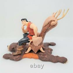 WDCC Beauty And The Beast Gaston Scheming Suitor Sculpture With COA & Box