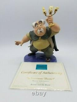 WDCC Beauty And The Beast Maurice & Lumiere Is Someone There w COA