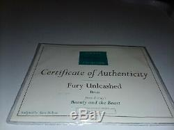 WDCC DISNEY BEAST titled Fury Unleashed from Beauty and the Beast