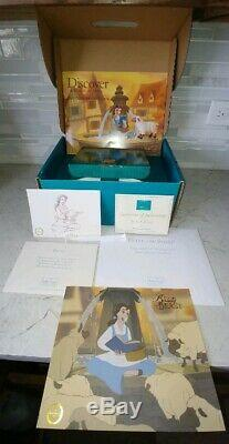 WDCC Disney Beauty and the Beast 3pc Set Belle Sheep Fountain withCOA's + MORE