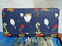 Walt Disney Authentic Dooney & Bourke Beauty & The Beast Wallet/wristlet, Nwt