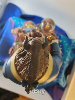 Walt Disney Gallery Beauty and the Beast 10th Year Anniversary Snow Globe RARE