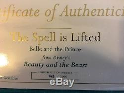 Wdcc Disney Beauty And The Beast The Spell Is Lifted 143/2000 With Box Coa