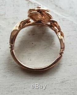 Zales Enchanted Collection Disney Beauty & Beast Belle Rose Gold Ring size 6.5